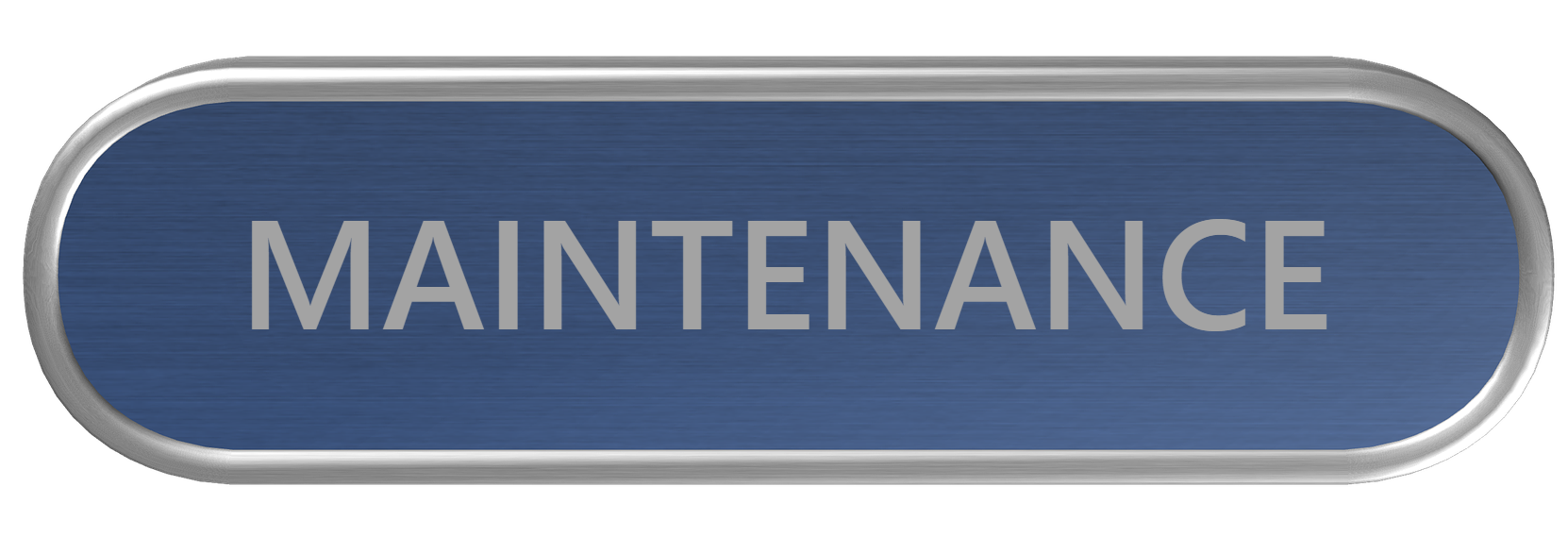 Maintenance Button Blue